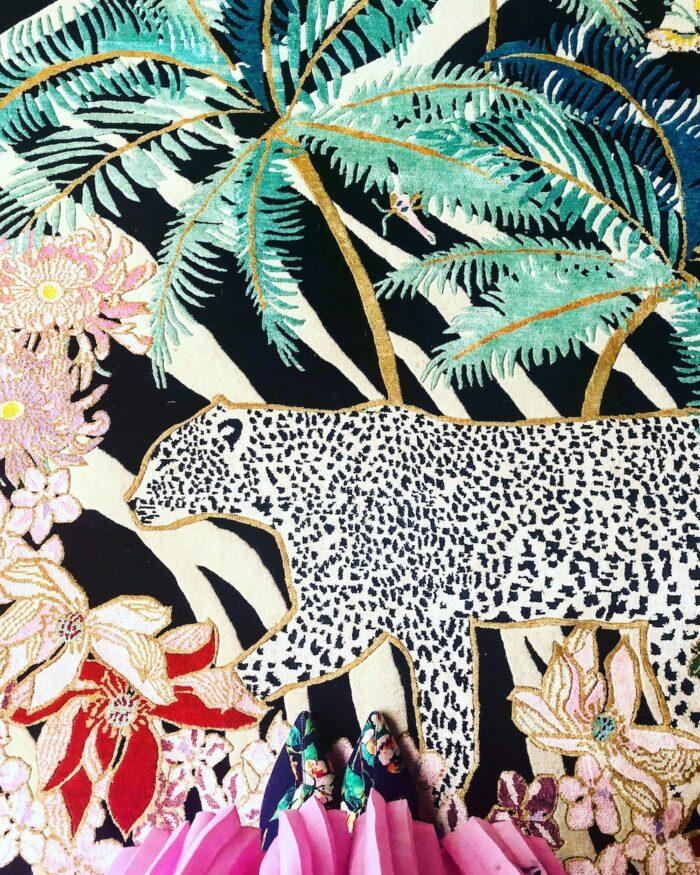 Close up of Leopard Rug