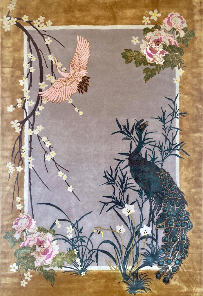 Hand Tufted Wool & Tencel Rug