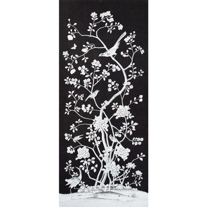 Chinois Palais Panel wallcovering in Noir