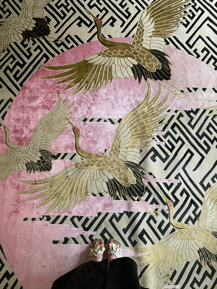 Hand Knotted Wool & Silk Rug